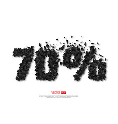 70 percent abstract sale sign vector image