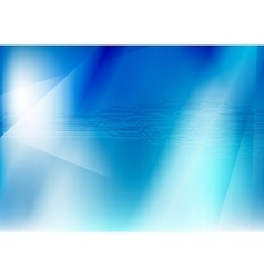 Abstract blue gradient with circuit board vector