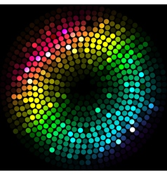 abstract colorful lights cyrcle vector image