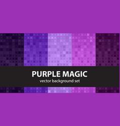 Abstract pattern set purple magic seamless vector