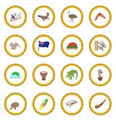 Australia icon circle vector