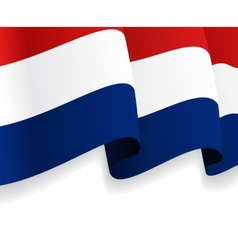 Background with waving dutch flag vector
