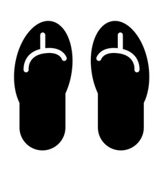beach slippers solid icon flip flops vector image