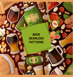 beer in beerhouse brewery seamless pattern vector image