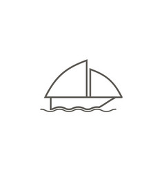 boat icon simple element from map and navigation vector image