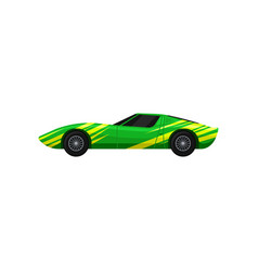 bright green-yellow racing car fast sports vector image