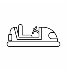 Bumper car icon in outline style vector