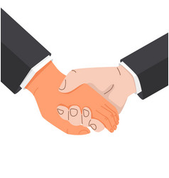 Businessman hands holding promise vector
