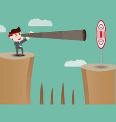 businessman looking beyond success vector image