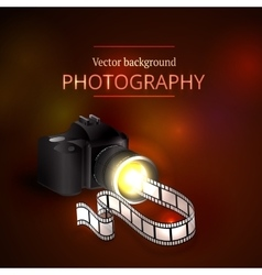 Camera shooting photo and video vector
