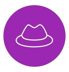 Classic hat line icon vector image