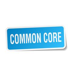common core square sticker on white vector image