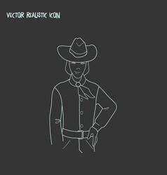 cowboy icon line element of vector image