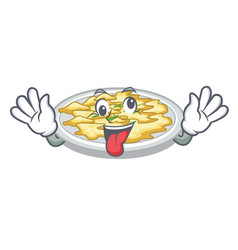 crazy scrambled egg isolated with in cartoon vector image