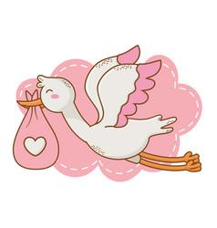 Cute baby shower cartoon vector