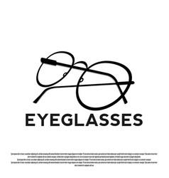 Design eyeglasses frame logo vector