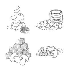 Design taste and crunchy symbol set of vector