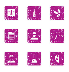 doctorate icons set grunge style vector image