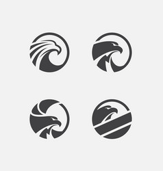 eagle logo pack vector image
