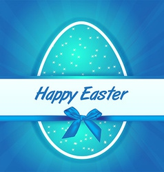 Easter blue egg gift card vector image