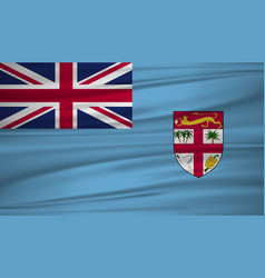fiji flag flag of fiji blowig in the wind eps 10 vector image
