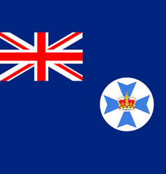 Flag of queensland in australia vector