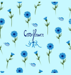 Floral patern on a blue background vector