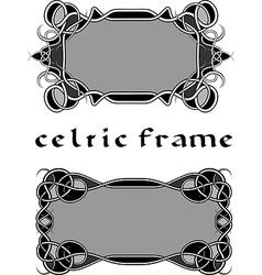 Frame in Celtic style vector