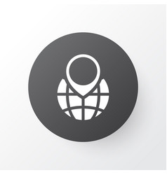 Globe pointer icon symbol premium quality vector