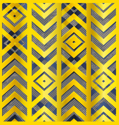 gold color geometric pattern vector image