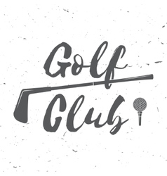 Golf club concept with golf ball silhouette vector