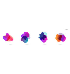 Gradient abstract banners with flowing liquid vector