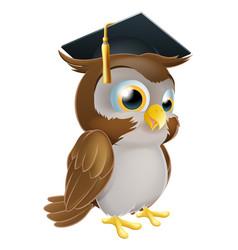 Graduate owl vector