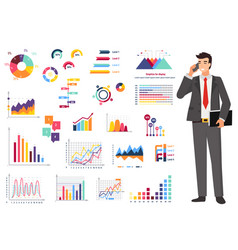 graph report counting finance worker vector image