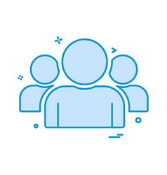 group icon design vector image