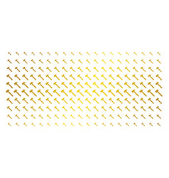 Hammer golden halftone grid vector