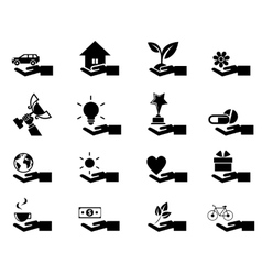Hand concept icons eps 10 vector image