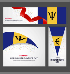 Happy barbados independence day banner and vector
