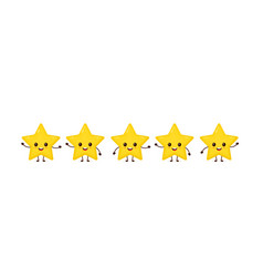 happy cute smiling funny 5 stars vector image