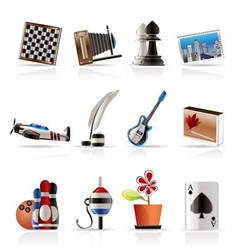 hobby and holiday icons vector image