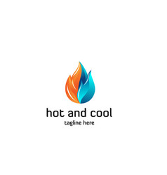 Hot-and-cool-logo-template vector