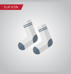 Isolated socks flat icon foot textile vector