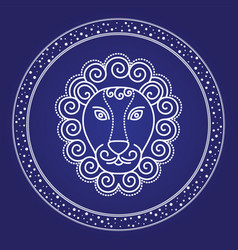 lion starry horoscope and astrology emblem vector image
