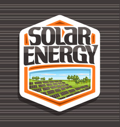 logo for solar energy vector image