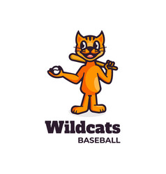 Logo wildcats simple mascot style vector