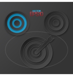 Modern flat design targets with drop shadows vector image