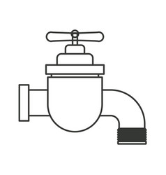 monochrome silhouette of faucet icon vector image
