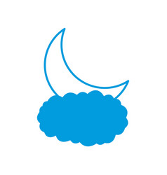 moon and cloud vector image