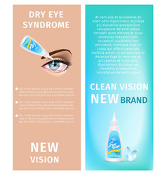 new vision dry eye syndrome clean vision banners vector image