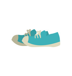 Pair of blue training shoes vector